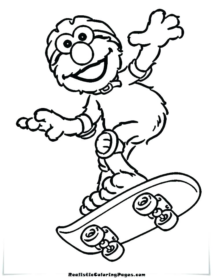 736x960 Oscar Coloring Pages What Color Is The Grouch The Grouch Coloring