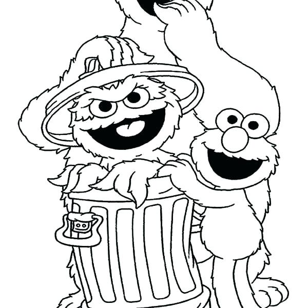 600x600 Oscar The Grouch Coloring Page Coloring Pages Coloring Pages Free