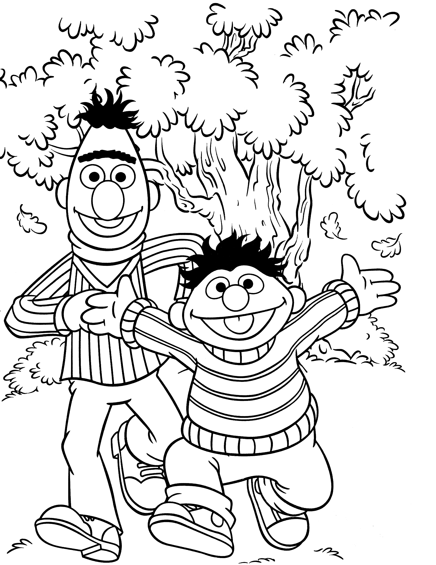 1700x2200 Oscar The Grouch Coloring Pages Free