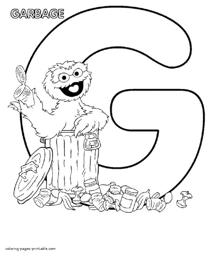 895x1034 Oscar The Grouch Coloring Pages Gallery Free Coloring Sheets