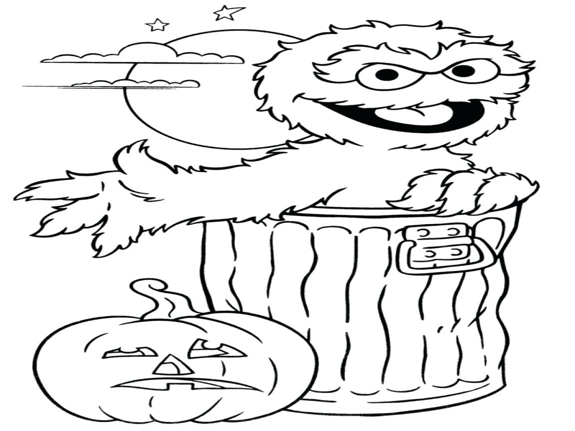 1152x864 Oscar Sesame Street Halloween Coloring Pages Thanksgiving Food