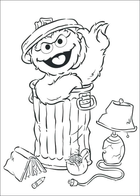 484x677 Oscar The Grouch Coloring Page The Grouch Coloring Pages Coloring