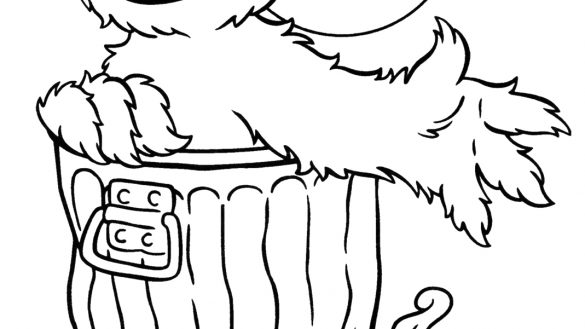 585x329 Oscar The Grouch Coloring Pages Halloween Colorings