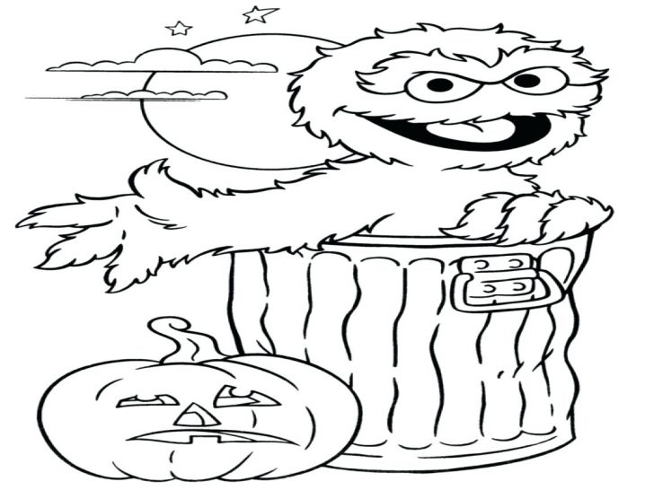728x546 Oscar The Grouch Coloring Pages