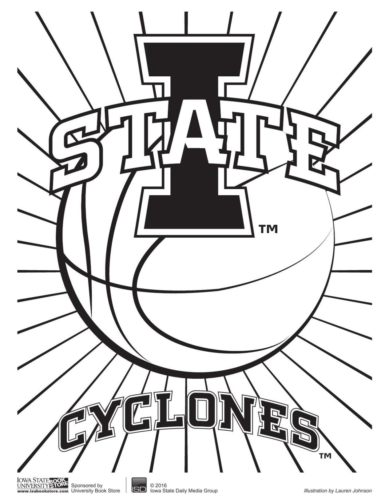 1265x1637 Iowa State Cyclones Coloring Pages