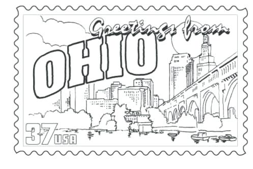 497x332 Ohio State Buckeyes Coloring Pages State Coloring Pages State