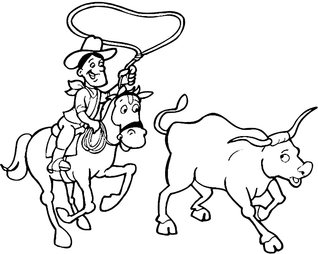 1050x840 Rodeo Coloring Pages