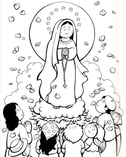 Our Lady Of Fatima Coloring Pages