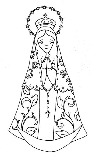 303x519 Our Lady Of The Rosary Victory Oct Catholic Coloring Page