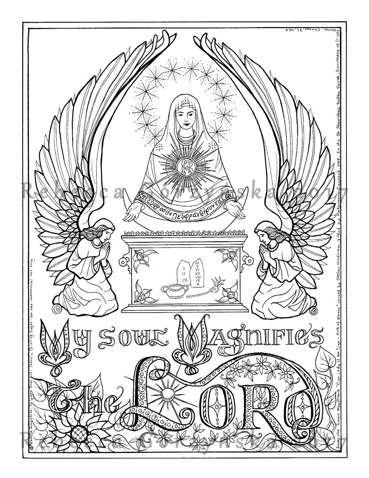 750x971 Our Lady Of The Sign Ark Of Mercy Catholic Coloring Page