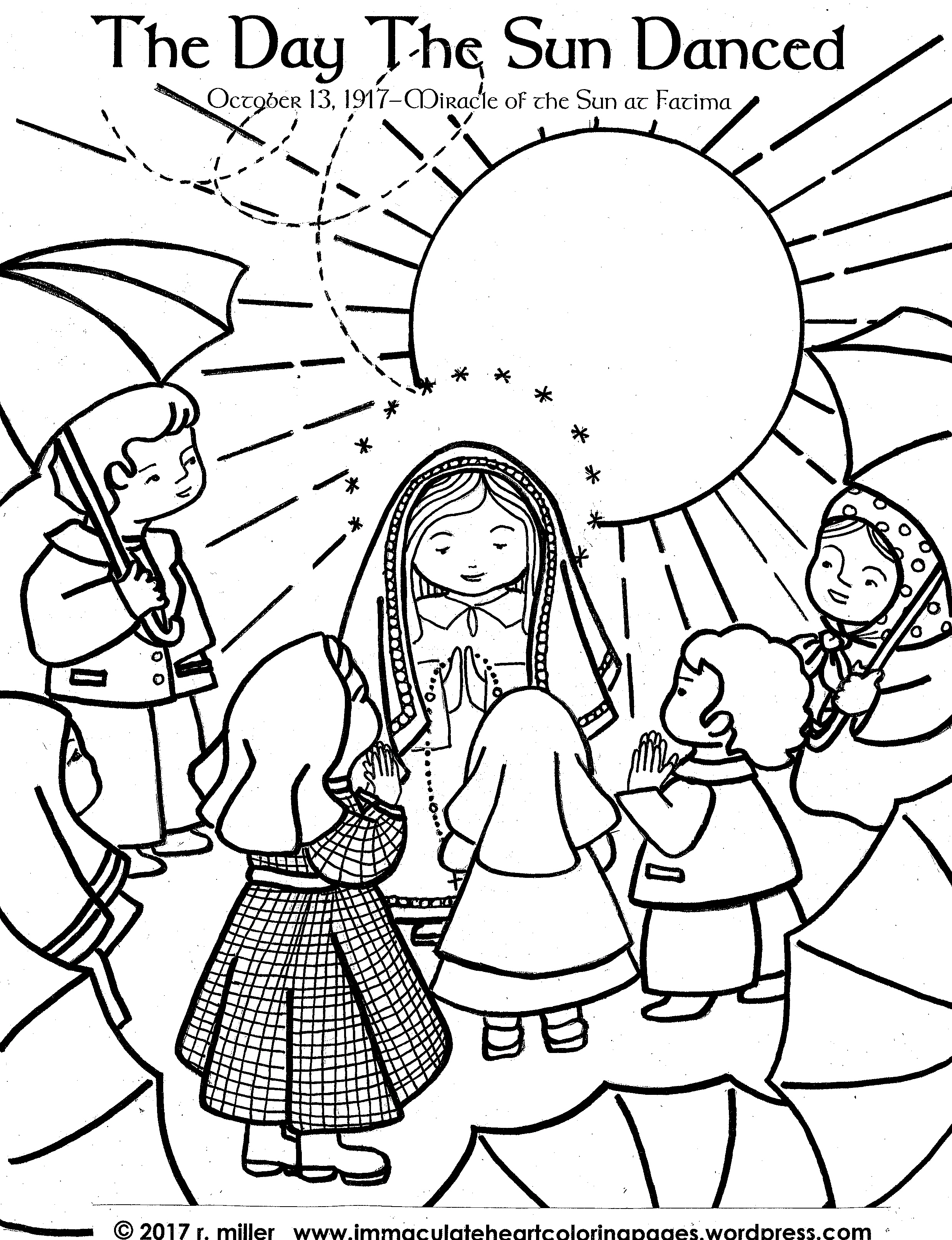 2479x3229 Our Lady Immaculate Heart Coloring Pages