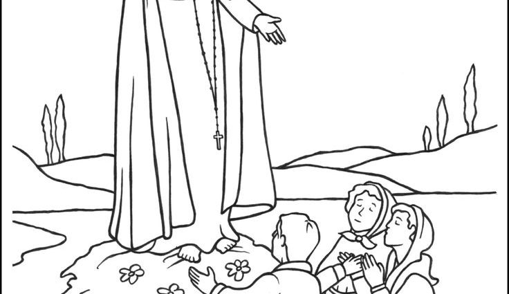 736x425 Lady Of Fatima Coloring Pages Best Mary Coloring Pages Images