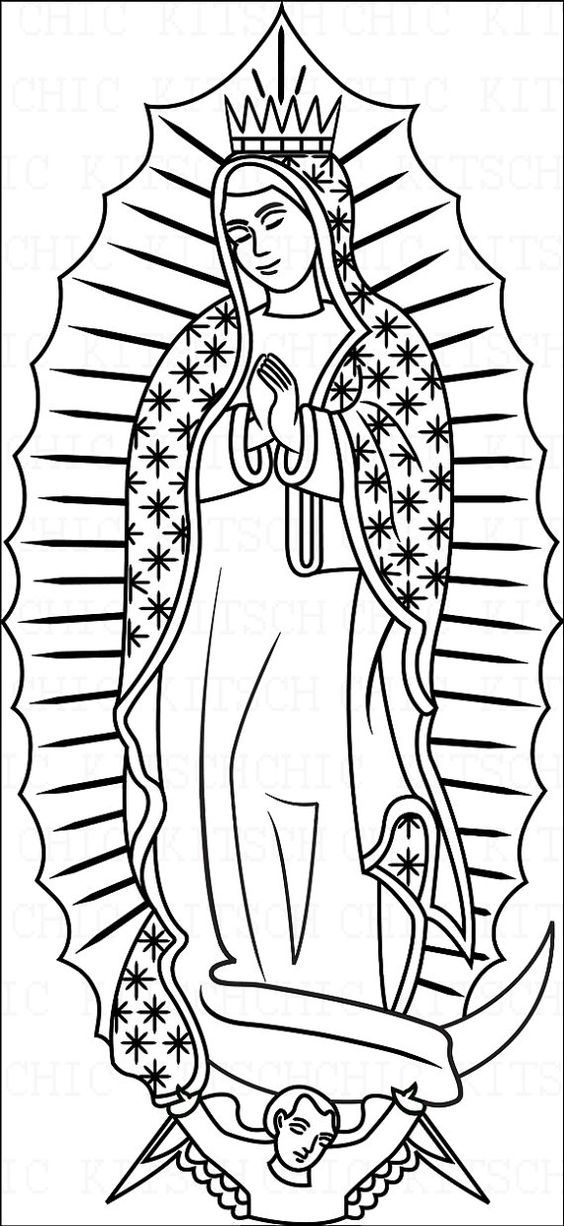 564x1226 Our Lady Of Guadalupe Coloring Page Our Lady Of Guadalupe Coloring