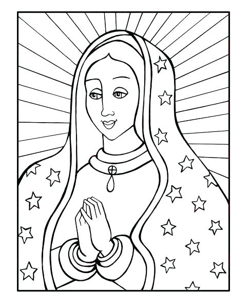 485x600 Our Lady Of Guadalupe Coloring Page Our Lady Of Coloring Page