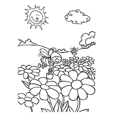 Outdoor Scene Coloring Pages