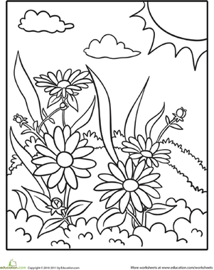 301x380 Outdoor Scene Coloring Pages
