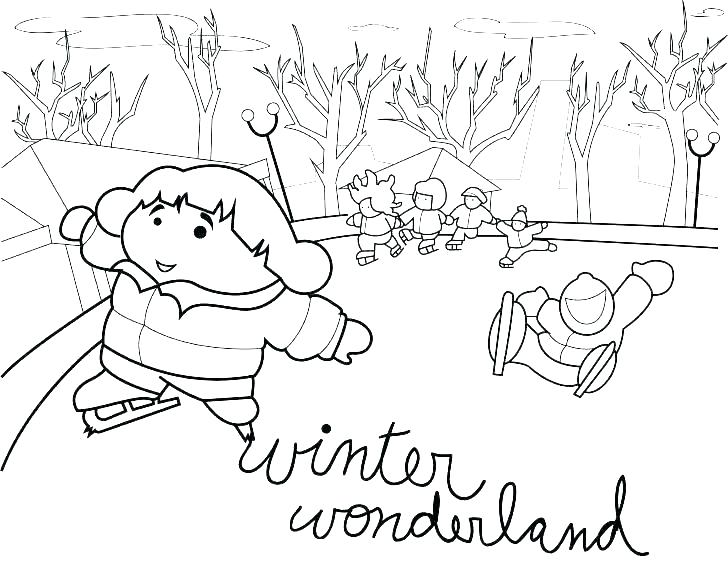 728x563 Outdoor Scene Coloring Pages Coloring Pages Baby Winter Printable