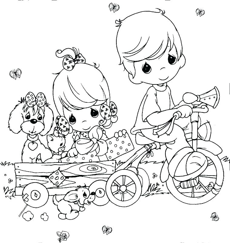 759x800 Outdoor Scene Coloring Pages Precious Moments Manger Scene