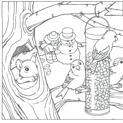 500x500 Winter Scene Coloring Pages Outdoor Coloring Pages Coloring Pages