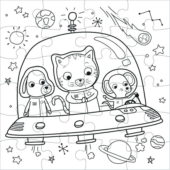 580x580 Outer Space Coloring Pages Space Coloring Pages For Adults Free