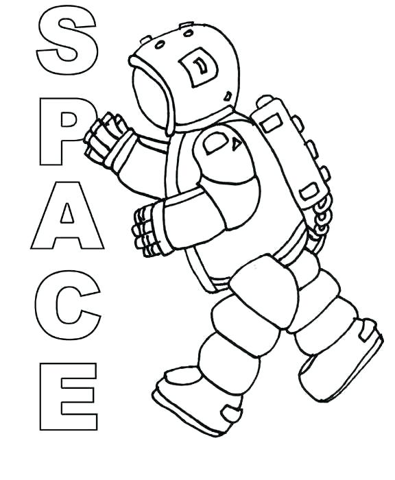 576x700 Outer Space Color Pages Icontent