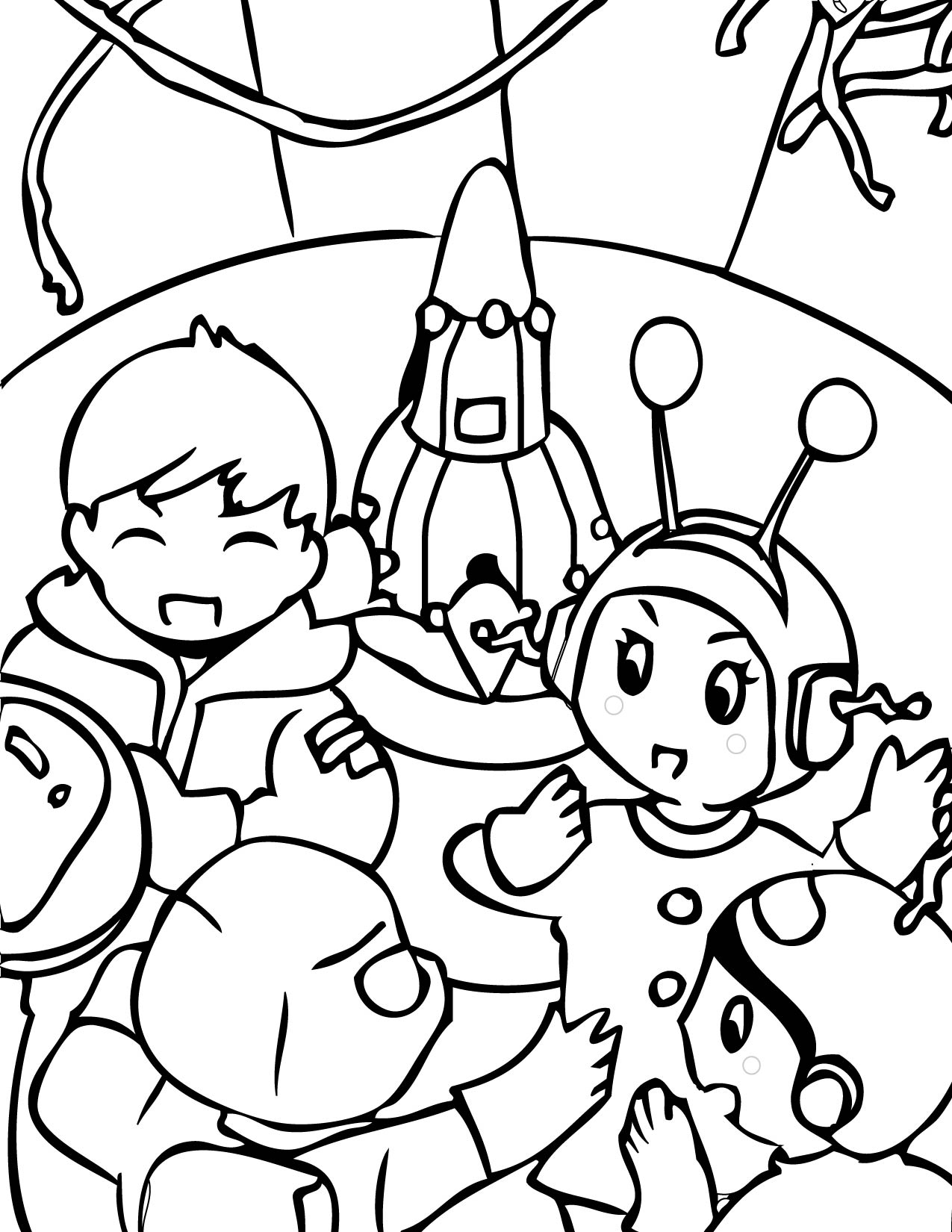 1275x1650 Outer Space Coloring Page Handipoints