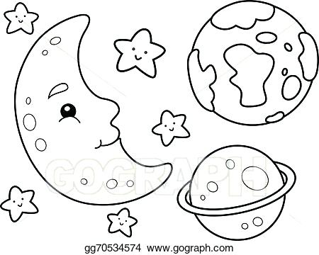 450x360 Outer Space Coloring Page Outer Space Coloring Page Outer Space