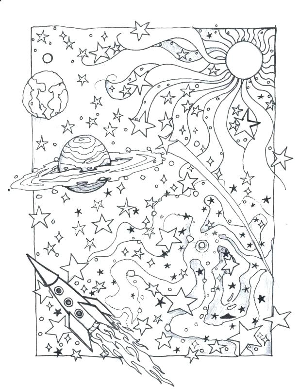 618x800 Outer Space Coloring Page Outer Space Coloring Pages Detailed