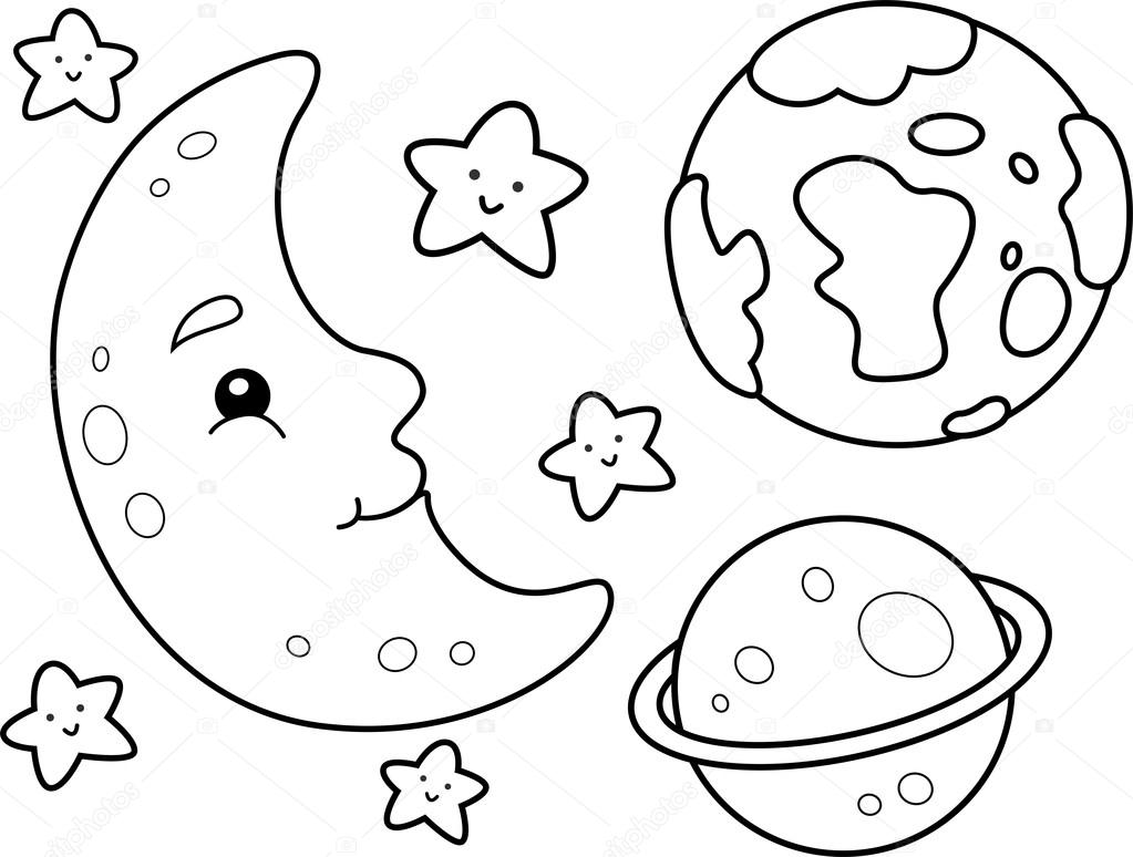 1023x774 Outer Space Coloring Pages