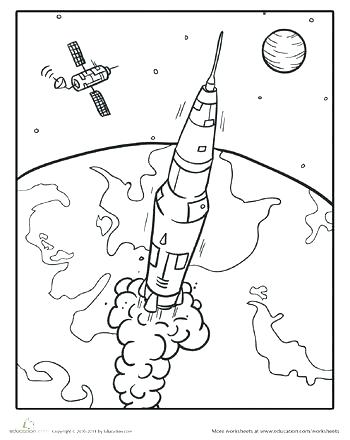 350x440 Terrific Outer Space Coloring Page Terrific Outer Space Coloring