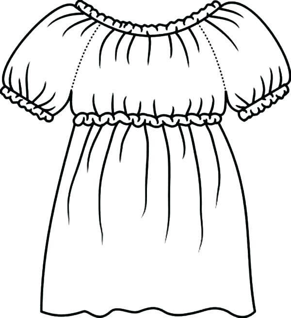 600x657 Dress Up Coloring Pages Dress Coloring Pages Wedding Dresses