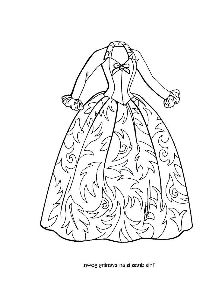 736x981 Dresses Coloring Pages