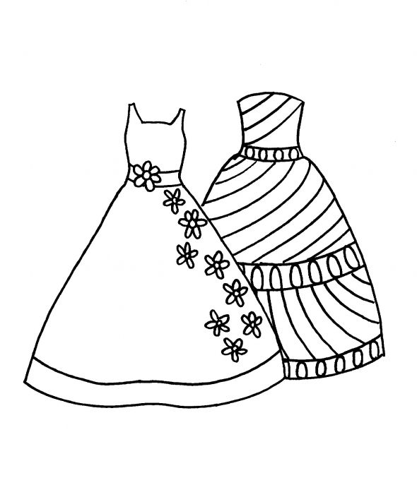 590x687 Fashion Dress Coloring Pages