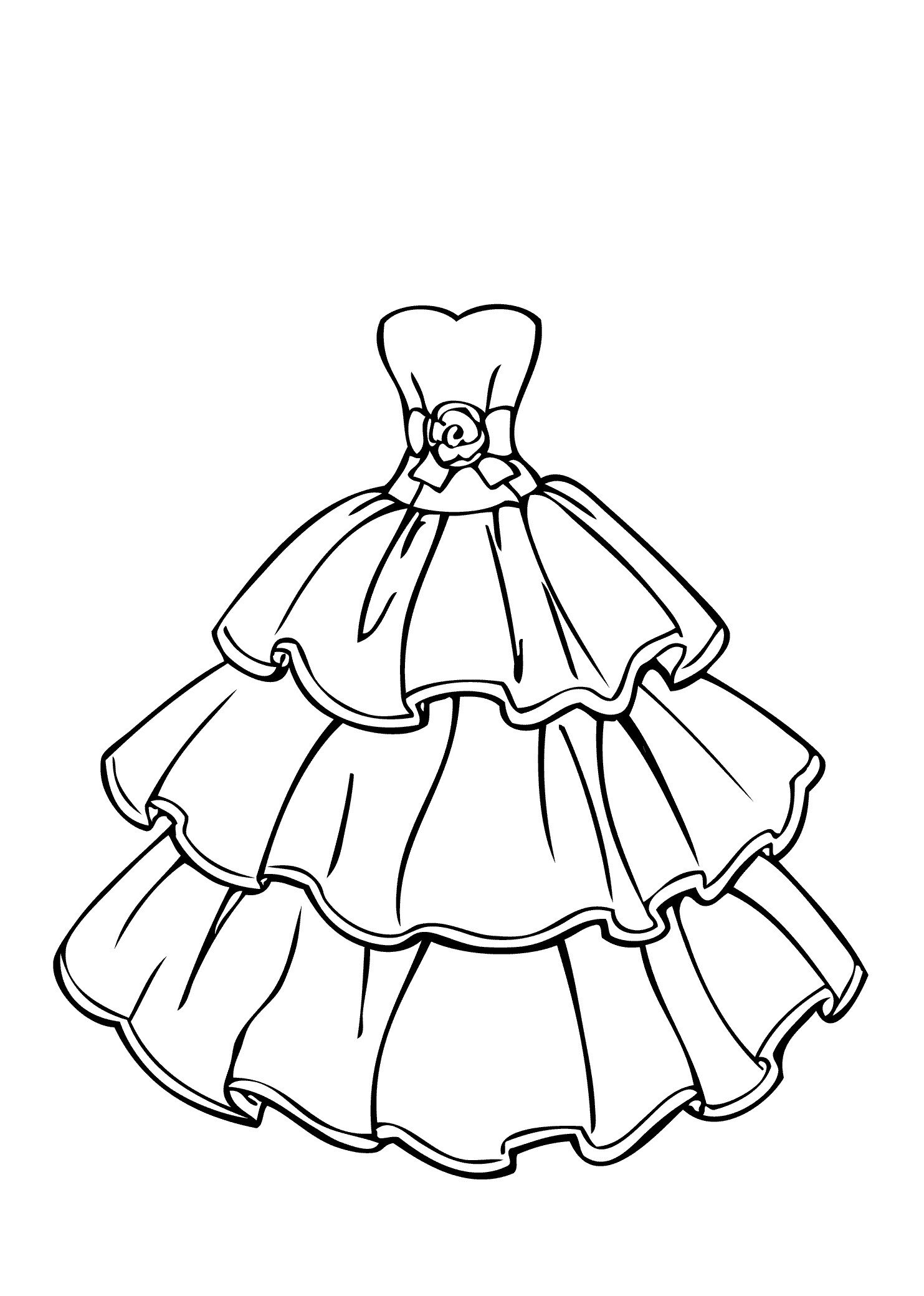 1483x2079 Luxury Coloring Pages Dresses