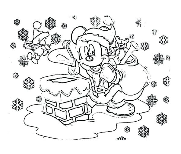 600x508 Mickey Mouse Christmas Coloring Pages Mickey Mouse Outfit