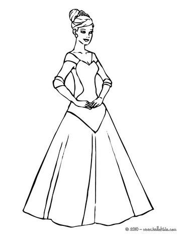364x470 Princess Dress Coloring Pages