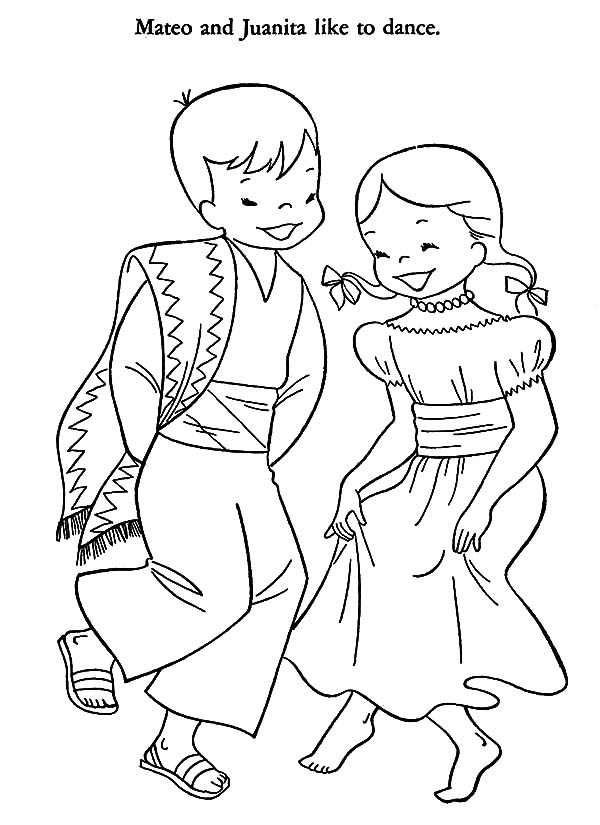 600x825 Traditional Mexican Dress Coloring Pages Color Luna