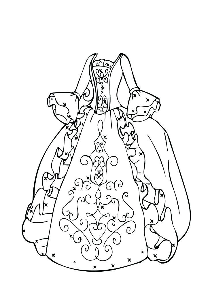 736x1031 Trend Dresses Coloring Pages Online Dress Page Up Beautiful Prom