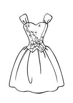 235x330 Wedding Dress Coloring Page For Girls, Printable Free Coloring