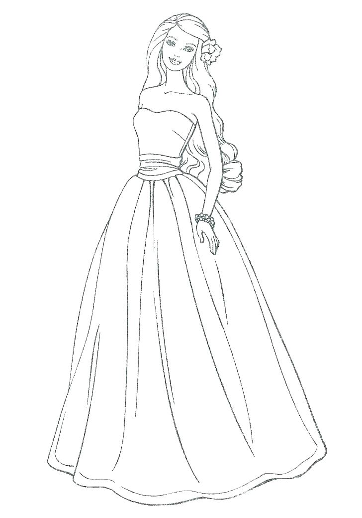 728x1039 Beautiful Dresses Coloring Pages Coloring Collection