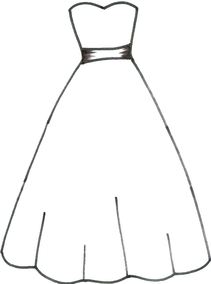 736x990 Coloring Pages Dresses