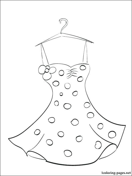 560x750 Dresses Coloring Pages