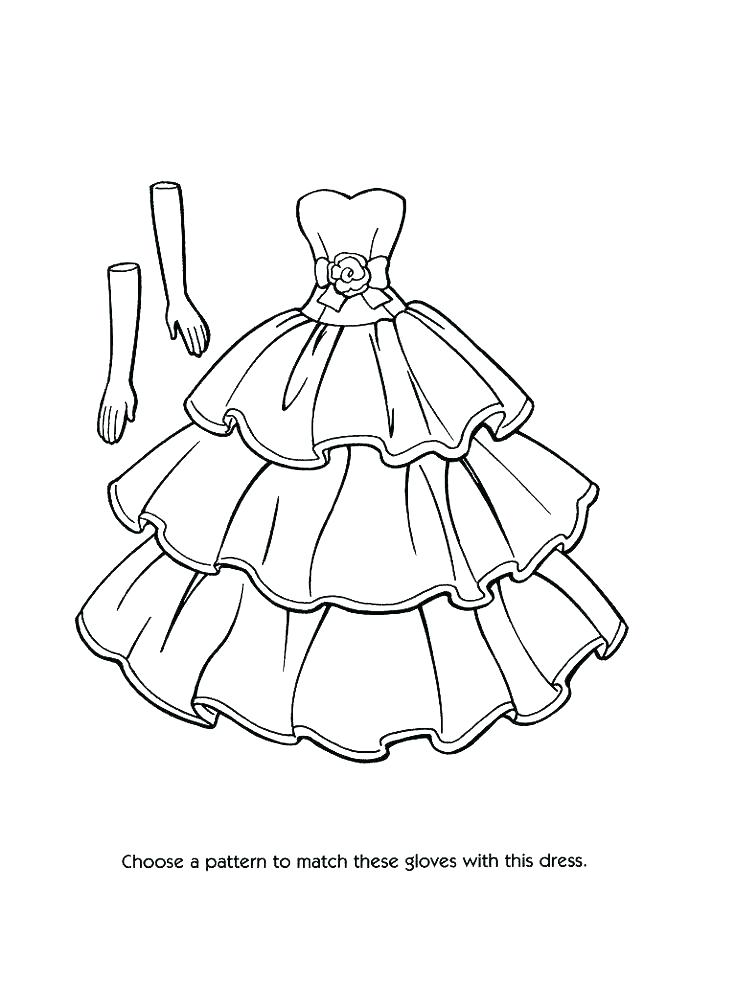 736x981 Coloring Pages Of Dresses Girls Dresses Coloring Pages Coloring
