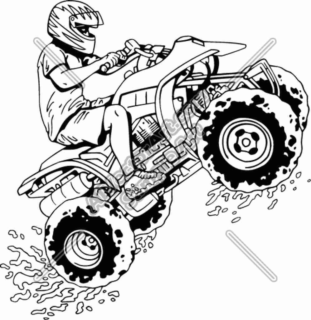 997x1024 Four Wheeler Coloring Pages Of Can Am Outlander At Stuning