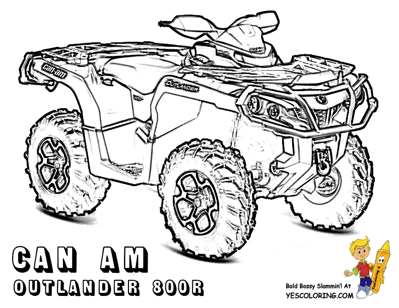792x612 Four Wheeler Coloring Pages Printable Free Coloring Pages