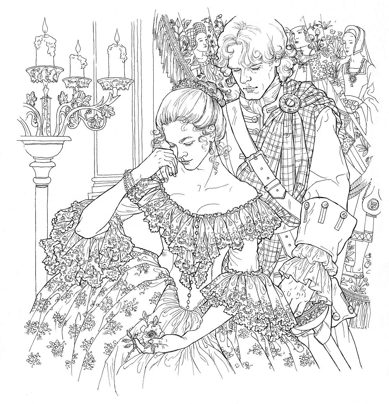 1345x1396 Theficial Outlander Coloring Book The Perfect Gift For Fans