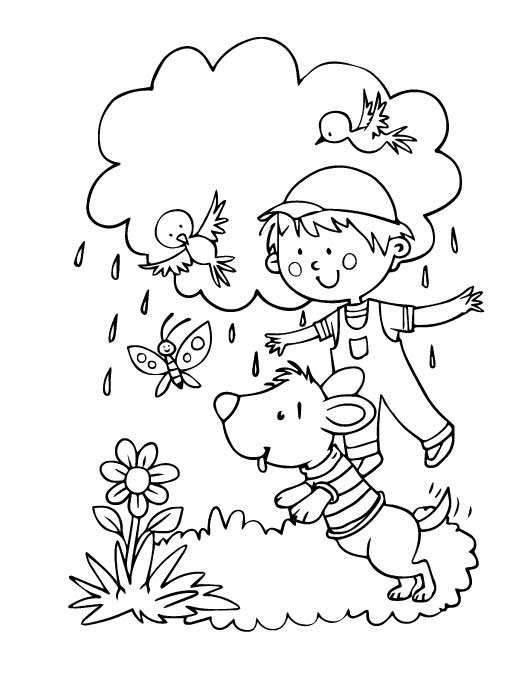 Outside Coloring Pages