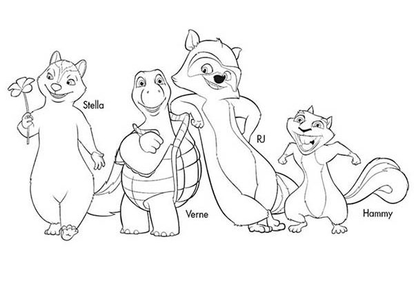 600x425 Hammy Coloring Pages Over The Hedge Coloring Pages Download