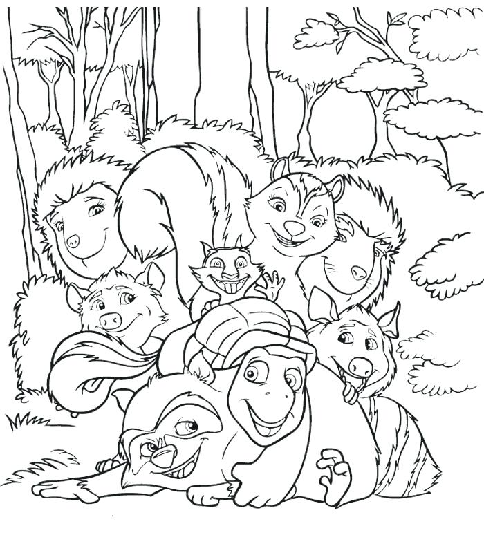 700x800 Coloring Pages Coloring Pages With Over The Hedge Coloring