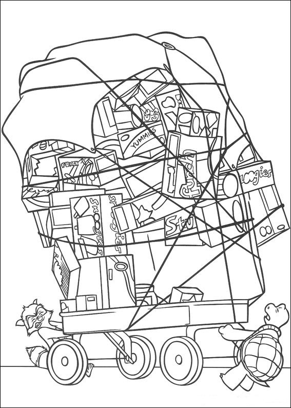 567x794 Kids N Coloring Pages Of Over The Hedge